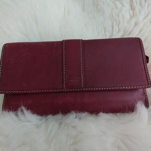 Vintage Coach Burgandy colored leather wallet